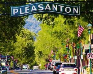 Pleasanton downtown sign