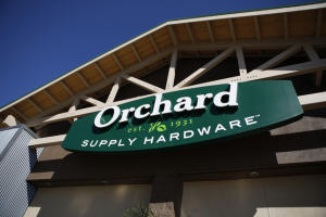 New logo design at  Orchard Supply Hardware, Silver Creek store in San Jose, Calif., on Tuesday, October 9, 2012.  San Jose-based Orchard Supply Hardware is making over its stores to be more tech-savvy and friendly to women shoppers. (Josie Lepe/Staff)